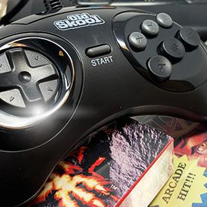 Old Skool USB Controller for Sega Genesis Mini console retrogaming retro game videogames PC MAC joy