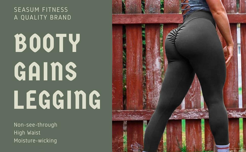 scrunch booty legging tights