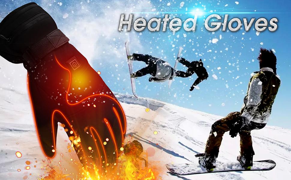 men women heated gloves