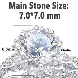 White Gold Ring 925 Sterling Silver Ring Bezel Set Ring Anniversary Ring 5921 Wedding Ring Vintage Art Deco Ring Moissanite Ring