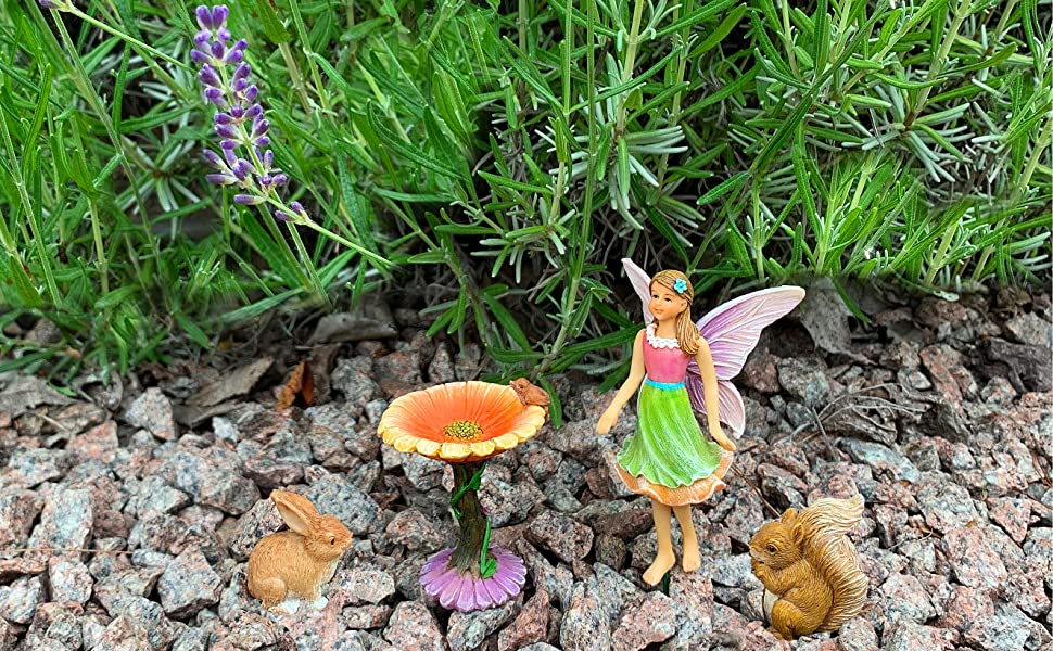 Fairy Garden Mini Fairy Baby of the Month February Violet