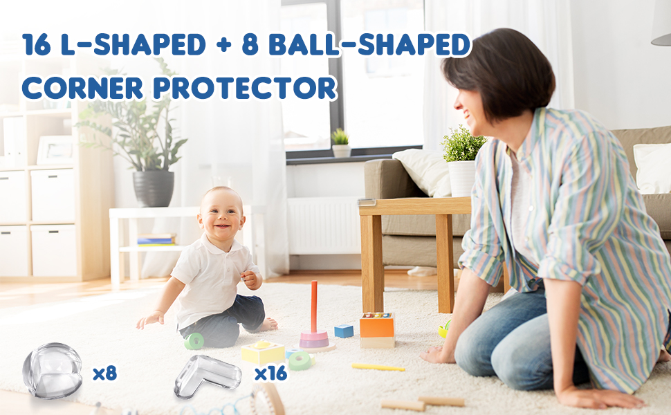 Soft Protection NUOE Corner Protectors for Kid Keep Baby Safe Baby Safety Sharp Corner Protection Large and Thick Strong Ahesive Corner Guard 8 Pack Corner Guard
