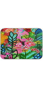 Tropical Flower Dish Drying Mat