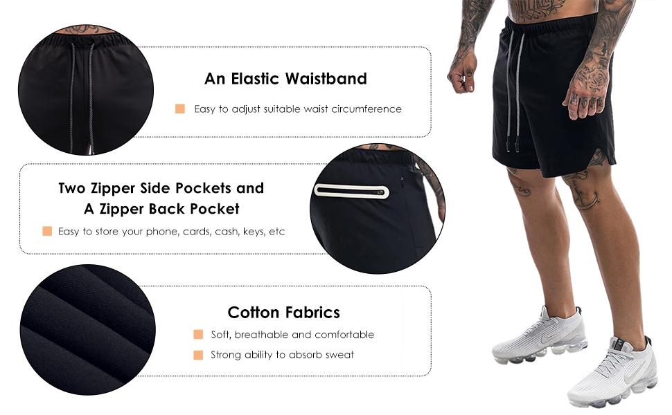 Men's lace up shorts