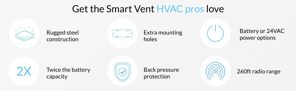 smart vent steel mounting battery 24vac hvac pros love back pressure radio best in class smart vent