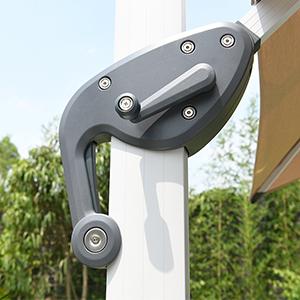 10ft windproof patio offset umbrella beige