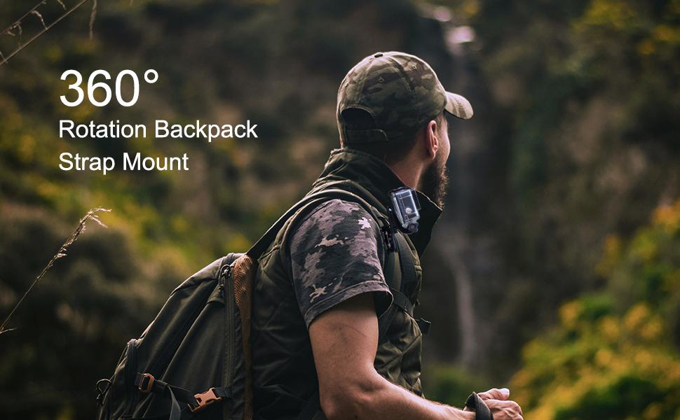 Backpack Strap Clip Holder for Action Cameras