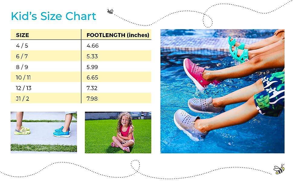 joybees kids size chart