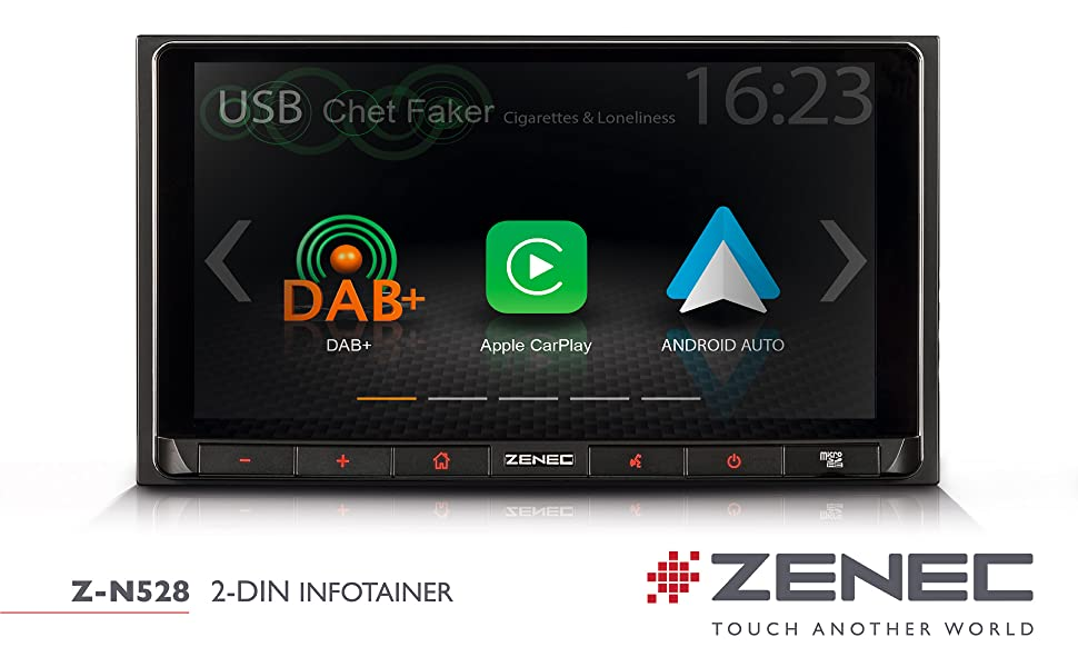 ZENEC Z-N528: 2 Din Autoradio mit Apple CarPlay und Google Android Auro