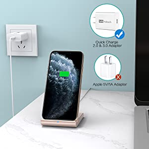 qi charger stand