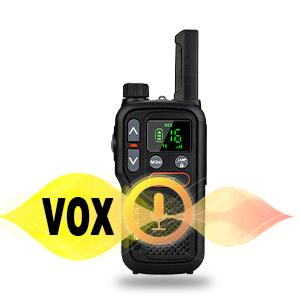walkie talkie con función de vox
