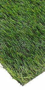 gummierte Unterseite mit Drainagel/öchern Kunstrasen Teppich f/ür den Innen und Au/ßenbereich Florh/öhe 35mm Garten und Fu/ßmatte Rasenteppic Teppich f/ür Hunde 1m x1.5m