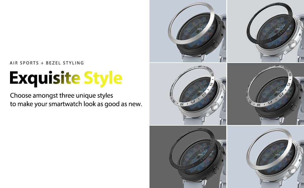 Ringke Air Sports + Bezel Styling Combo Case Designed for Galaxy Watch Active 2 44mm