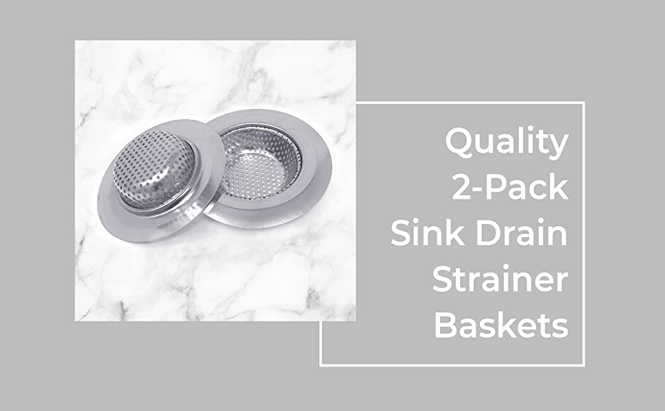 Quality 2-Pack Sink Drain Strainer Baskets These are premium drain strainer kitchen stopper