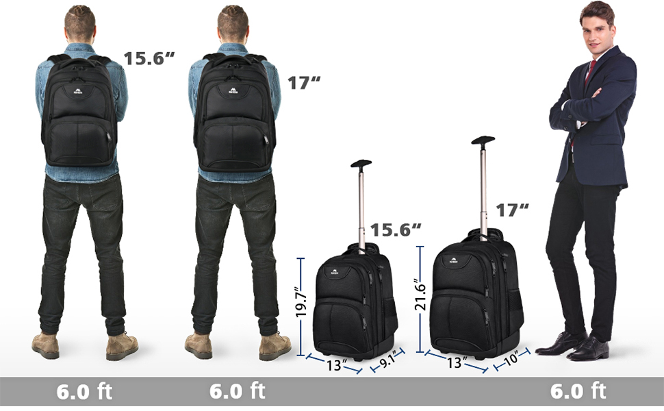 Matein rolling backpack