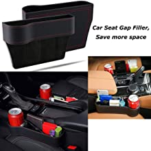 Car Seat Side Slit Pocket Catcher Box Gap Storage Organiser Wallet Cup Hold CHZ