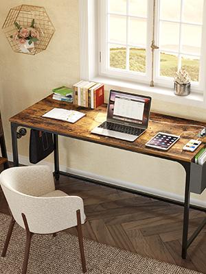 computer desk brown