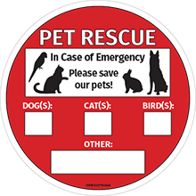 save our pets sign pet rescue sticker