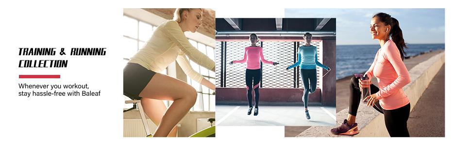 long sleeve running tops for women