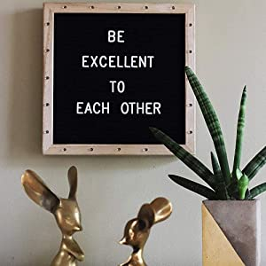Built-in LED Lights 10 x 10 Letter Board Black Felt Board with Stand