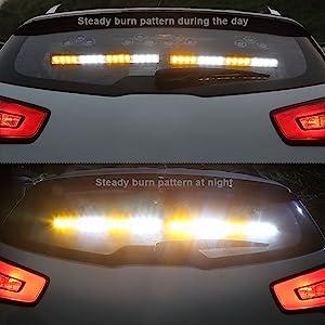 super bright high power amber white traffic advisor strobe light bar