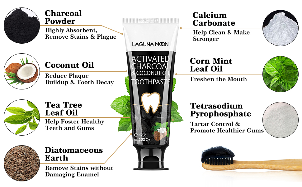 charcoal toothpaste for whitening teeth