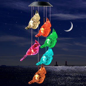 birthday gifts,mom,Outdoor wind chimes,gifts,mom birthday,solar wind chimes,Hummingbird wind chimes