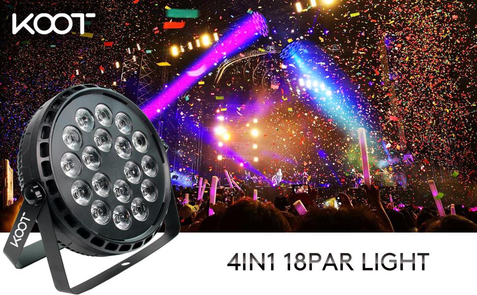 18 LED par lights