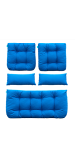 Amazon.com : QILLOWAY Indoor/Outdoor High Back Chair Cushion ...