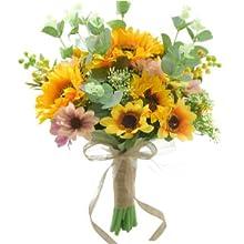 DIY sunflower bridal bouquet