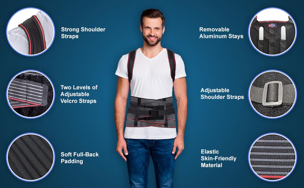scoliosis back brace, back brace posture corrector for men, back brace for scoliosis