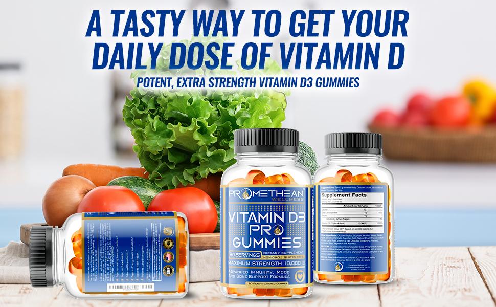 Promethean Wellness, Vitamin D3 Pro Gummies