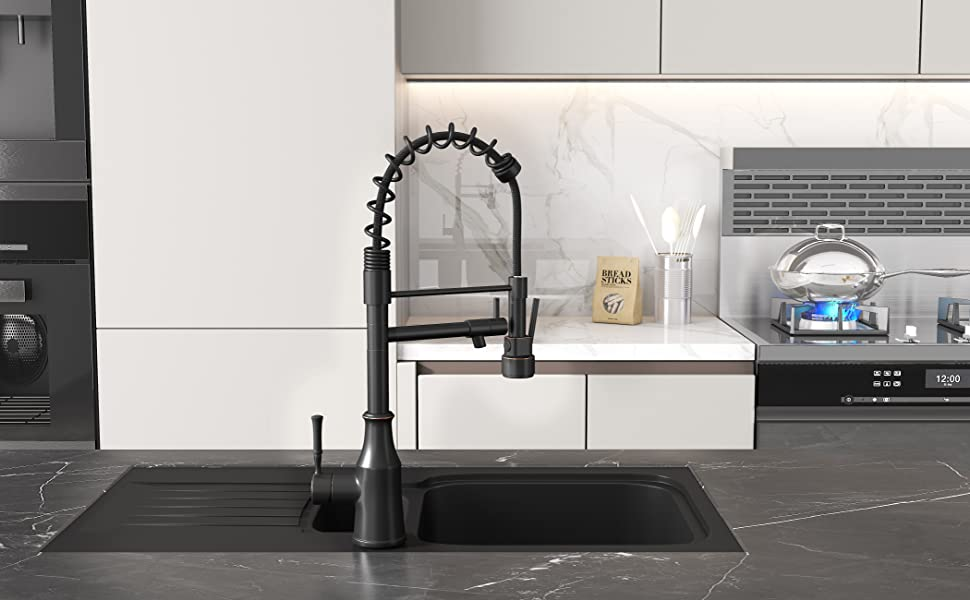 commercial pull down kitchen sink faucet