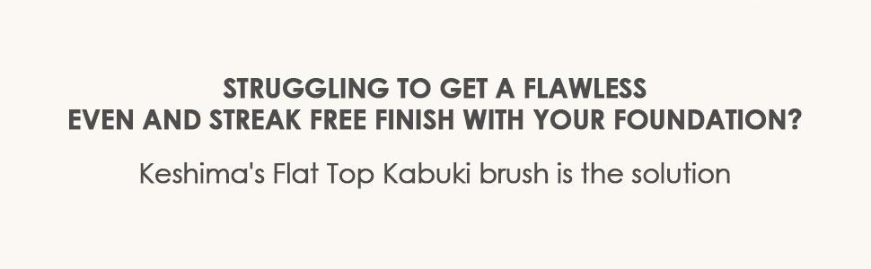flat top kabuki brush foundation brush for even and streak free finish