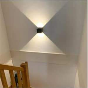 Color Madera L/ámpara de Pared Giratoria de 330/° en Aluminio Up Down Luz Blanco C/álido 3000K Iluminaci/ón para Escalera Pasillo Dormitorio ENCOFT LED Apliques de Pared Interior 12W 31cm