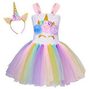 Unicorn Tutu Unicorn bodysuit Pastel Rainbow Tutu Unicorn Birthday Unicorn Tutu Set