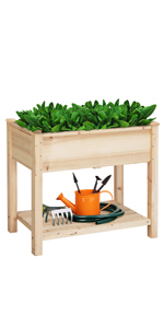 Yaheetech Raised Garden Bed with Shelf