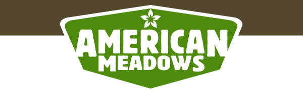 American Meadows logo in white text green background with white and brown header.