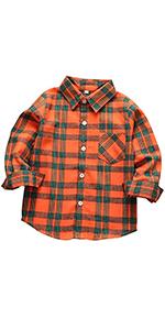 Kids' Plaid Flannel Shirts