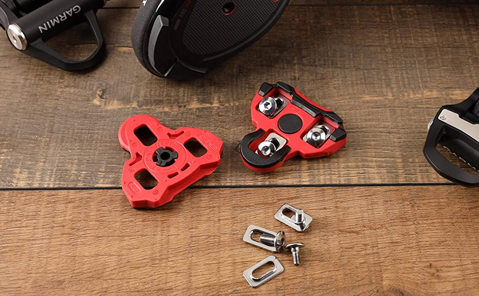 CyclingDeal Bike Cleats Compatible with Look Keo Road Bike Bicycle Cleat Set