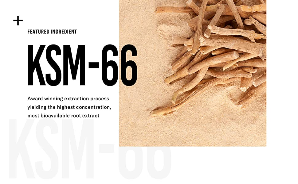 KSM-66, award winning extraction process, highest concentration, most bioavailable
