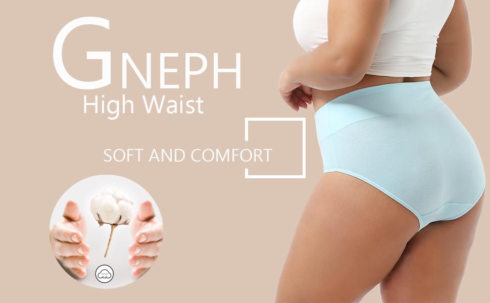 High waist cotton briefs for women