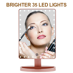 Updated 35pcs Led light ring mirror
