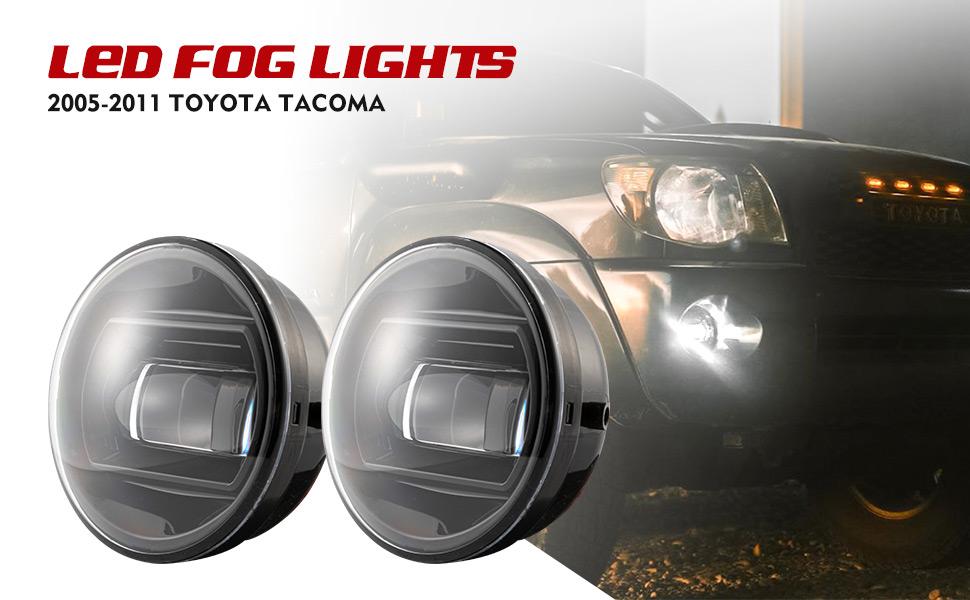 Fog Lights LED 15W for Tundra 2007-2013//2008-2015 Sequoia//Tacoma 2005-2011//2004-2006 Solara Plug /& Play Front Bumper LED Lights