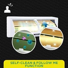 Self-Clean & Follow Me Function