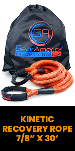"""Kinetic Recovery Rope 7/8"""" x 30', Recovery Gear, GearAmerica"""