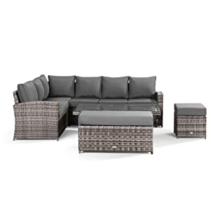 Washable Covers, corner sofa, dining, stools, outdoor, rattan, Fully Assembled, contemporary, garden