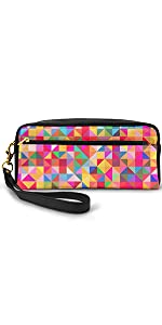 Abstract Colorful Geometric Background Cosmetic Bags