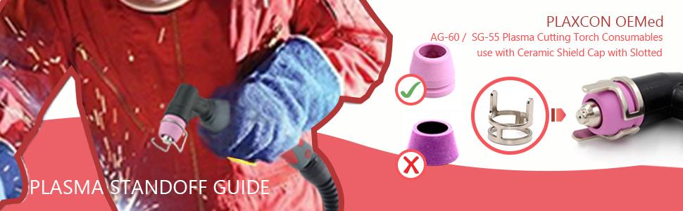 AG60 SG55 Plasma standoff guide ag-60  Plasma Cutting Torch  consumables lotos LTP5000D consumables