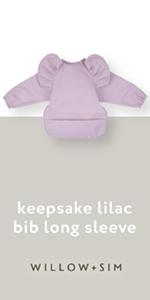 Willow + Sim keepsake lilac long sleeve bib